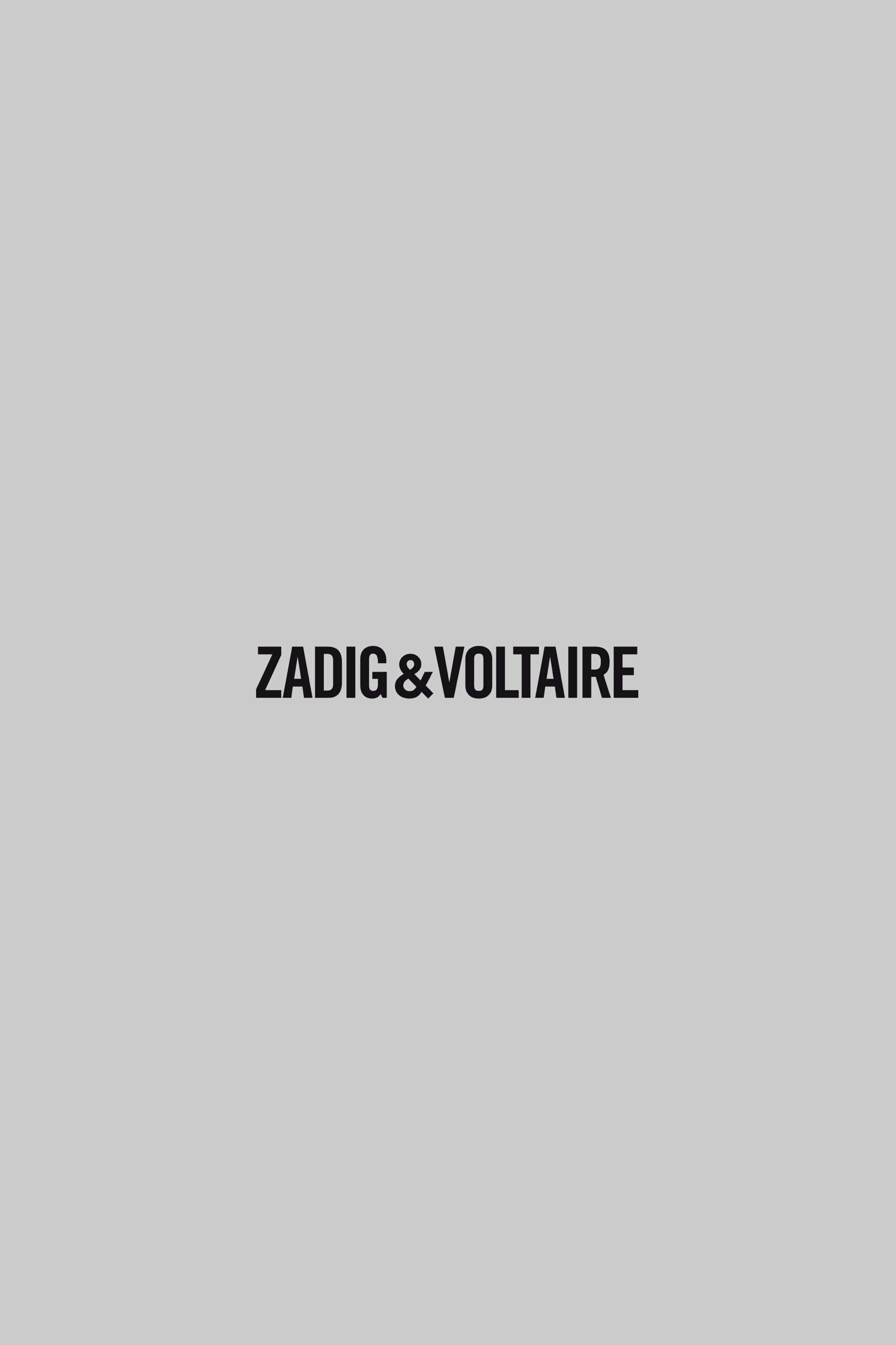 t shirt for woman grey marl zadig voltaire. Black Bedroom Furniture Sets. Home Design Ideas
